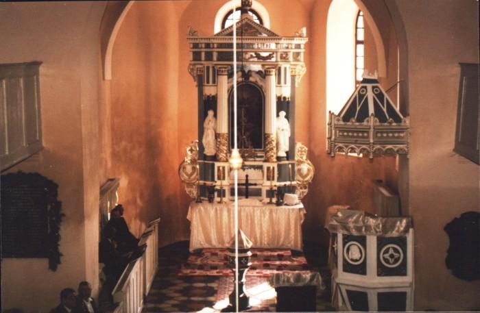 altar_biserica_evanghelica, Petelea
