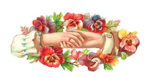 free_vintage_clipart_hands_hand_flowers