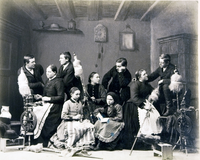 Şezătoare săsească în Cristian, 1885