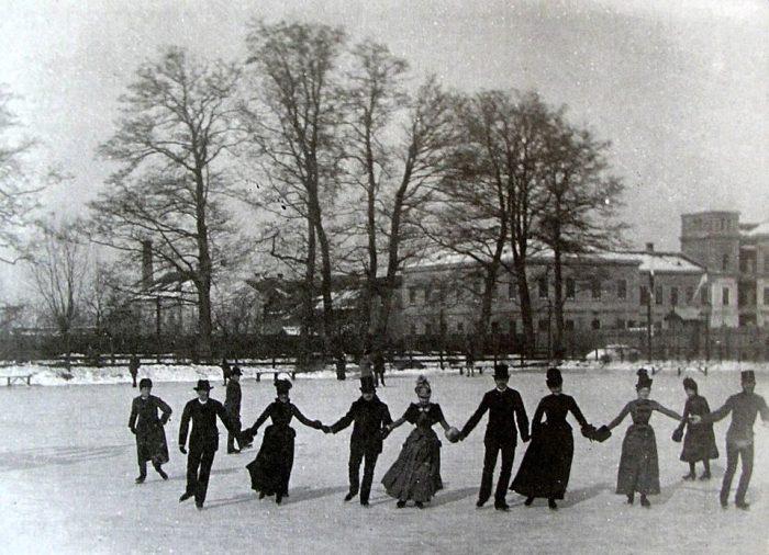 Patinoarul 1890 - Eislaufplatz (Schewisgasse - Bul. Victoriei)