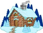 wooden-cottage-in-winter-landscape-clipart-86679782