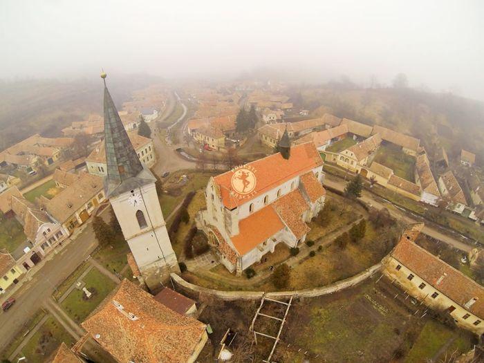 Biserica din Richiș. Foto: povești săsești, ianuarie 2014