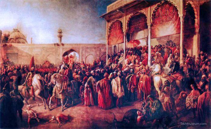 August Schöfft, Durbarul din Lahore, (Hof von Lahore), cca 1850-1855. Sursa foto: wikipedia.org