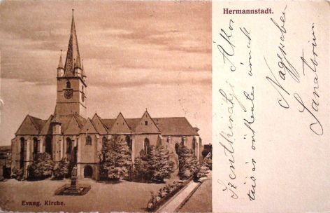 Hermannstadt Sibiu Nagyszeben Evang. Kirche 1909 (25)
