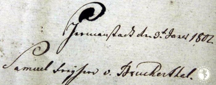 Semnatura de Testament a baronului Samuel von Brukenthal, Casa Teutsch, Muzeul Bisericii Evanghelice Sibiu