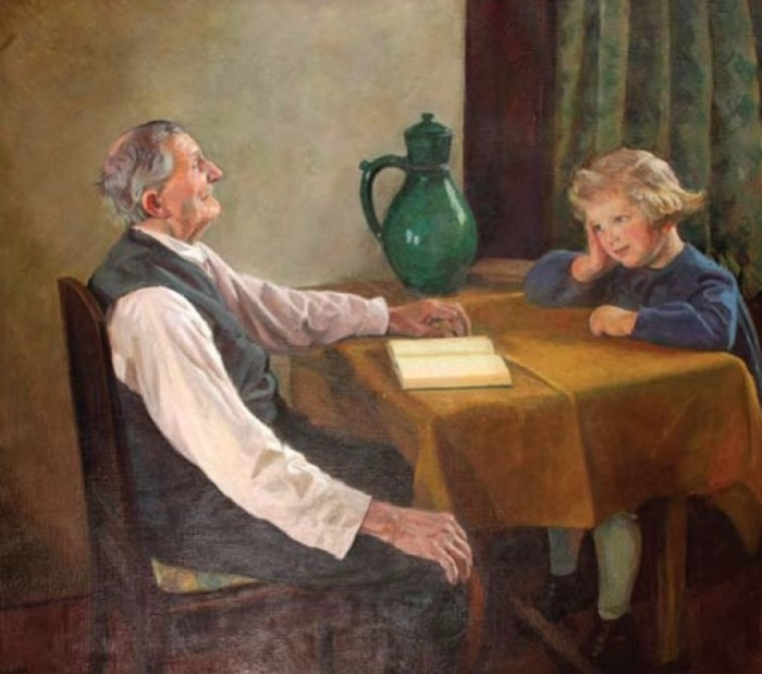 Bunicul si nepoata/Großvater und Enkelkind