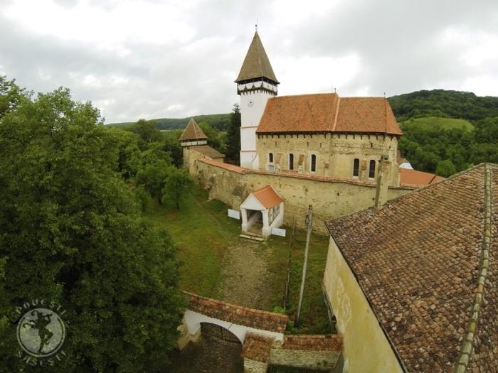 Biserica fortificata din Mesendorf, imagine cu drona, iunie 2014, Mihaela Kloos