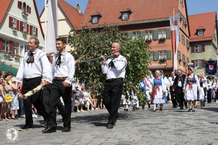 Grupul sasilor din Mesendorf la intalnirea anuală de la Dinkelsbuehl, Germania, iunie 2014. Foto: Mihaela Kloos