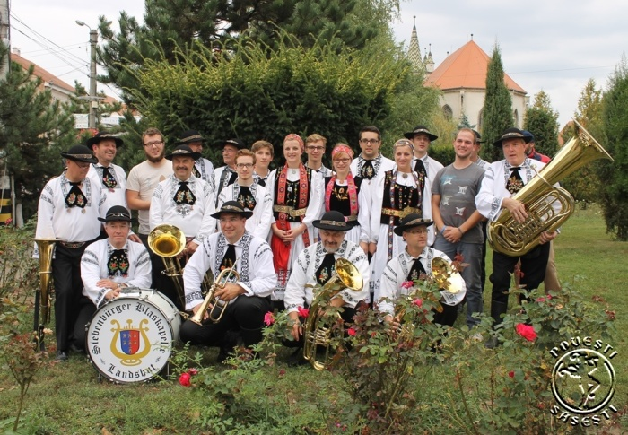 Fanfara sașilor din Landshut, Germania, la Întâlnirea anuală a sașilor din Transilvania, Sebeș, 2014. Foto: Mihaela Kloos-Ilea