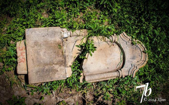 Multe morminte din cimitirul săsesc din Dobârca au fost distruse. Sursa Foto: Projekt Kirchenburg Dobring