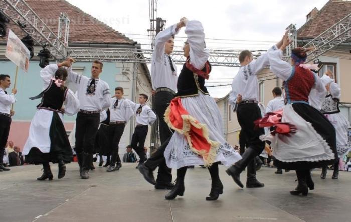 Spectacol de dansuri la întâlnirea sașilor din 2014, Sebeș/Muehlbach.