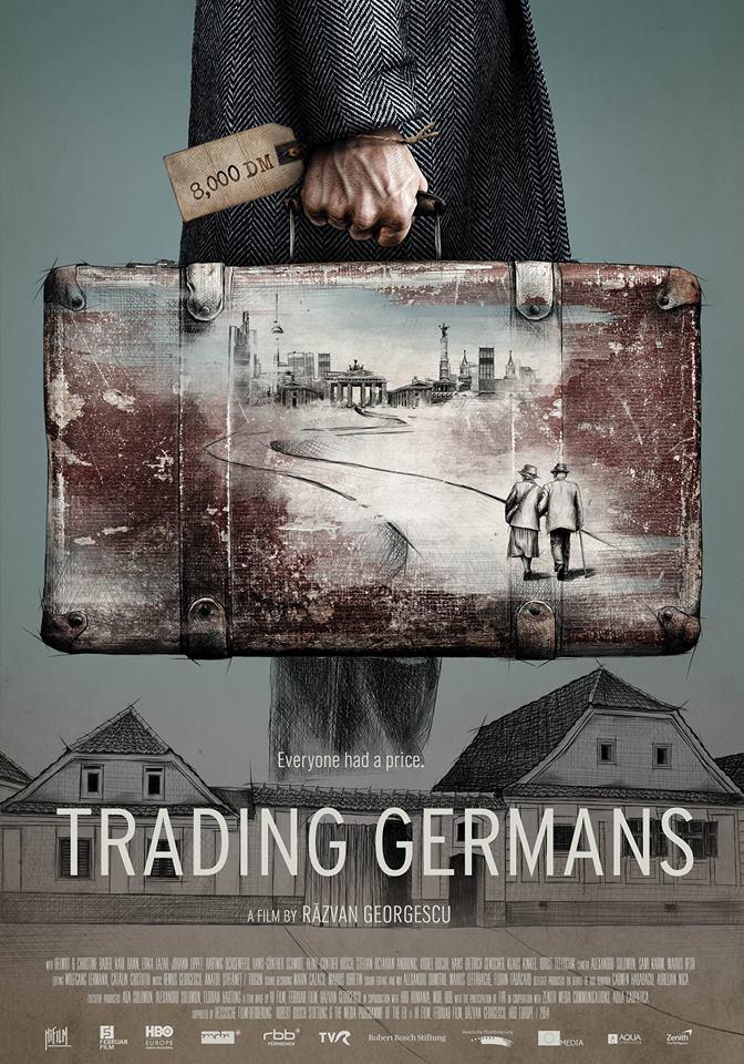 Afișul filmului Trading Germans/Pașaport de Germania. Sursa foto: pagina de Facebook Trading Germans / Pașaport de Germania